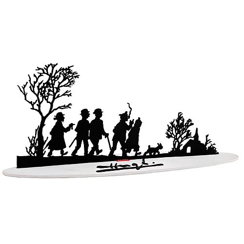 Adventures of Tintin Best Wishes Metal Sculpture Statue