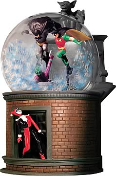 Batman & Robin Snow Globe