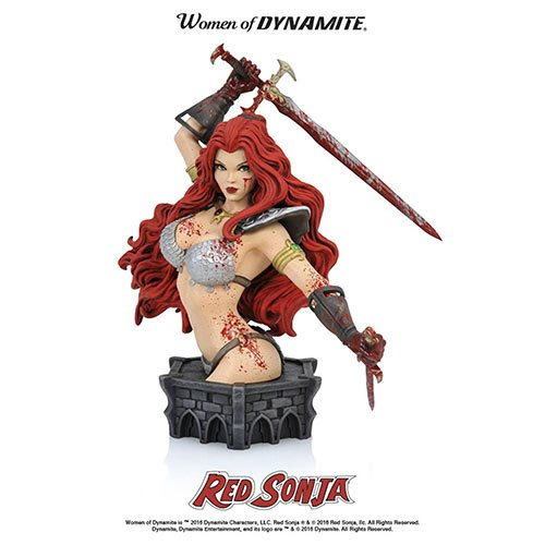 Women Dynamite Red Sonja Arthur Adams Blood Variant Bust