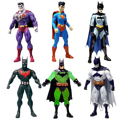 Superman Batman Public Enemies Action Figures Series 4 Set