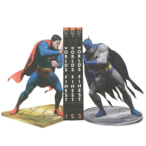 Superman Batman Worlds Finest Bookends