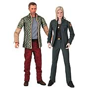 Battlestar Galactica Leoben and Starbuck Action Figures