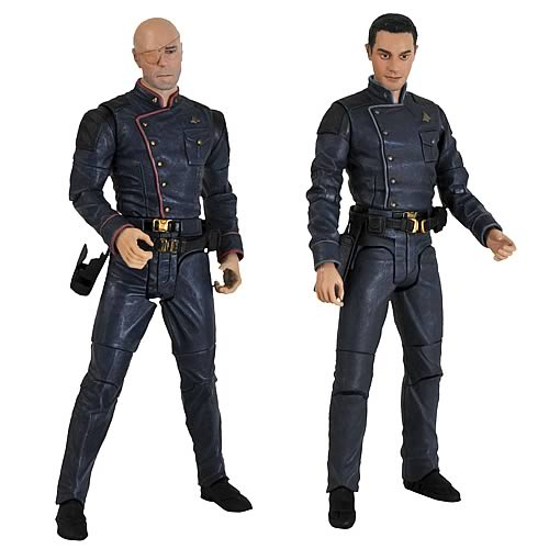 Battlestar Galactica Col. Tigh and Lt. Gaeta Action Figures