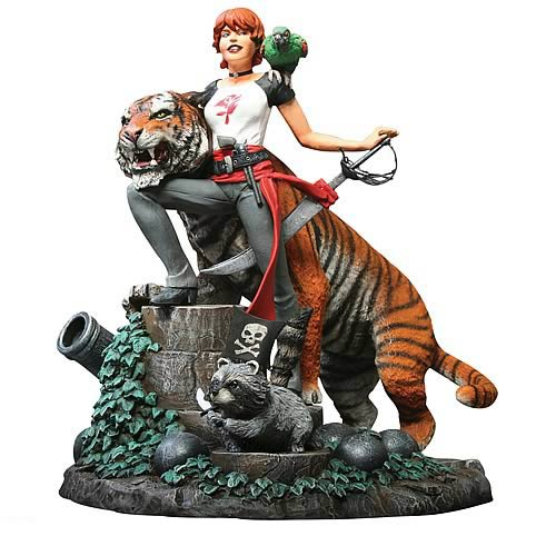 Fables Statue Shere Khan and Rose Red Statue