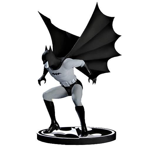 Batman Black and White Bob Kane Statue