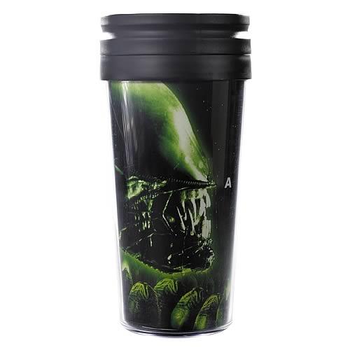 Alien Glowing Alien Head Travel Mug