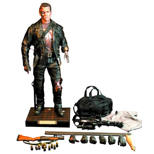 Terminator 2 T-800  Battle Damage 1:4 Scale Figure