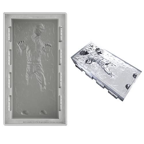 Star Wars Han Solo Deluxe Size Silicone Ice Cube Tray
