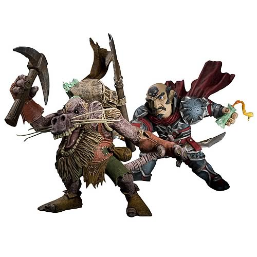 World of Warcraft Series 8 Gnome Rogue vs. Kobold Figures