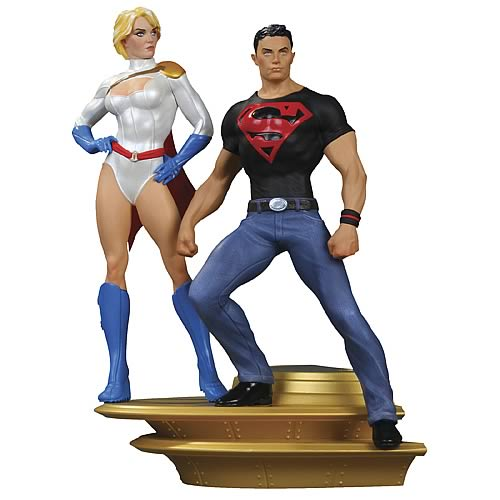 Superman Family Part 1 Power Girl and Superboy Statue