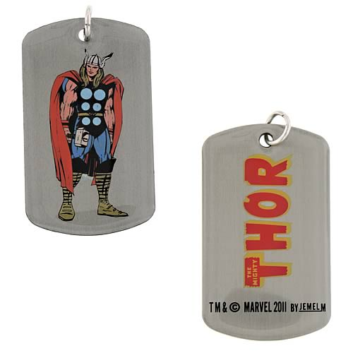Thor Dog Tag Action Necklace
