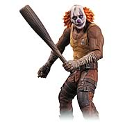 Batman Arkham City Series 3 Clown Thug with Bat Figure