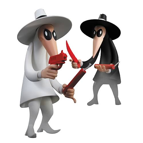 Mad Magazine Spy Vs Spy Vinyl Statue 2 Pack Dc