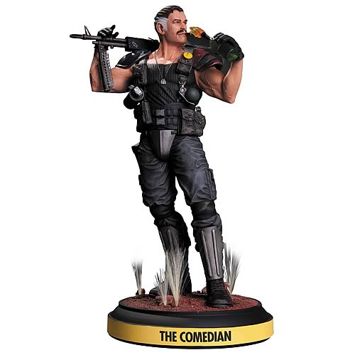 Before Watchmen The Comedian Statue