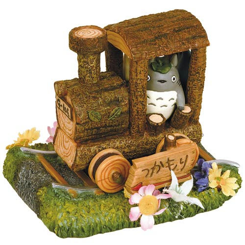 My Neighbor Totoro on a Choo-Choo Train Diorama Statue