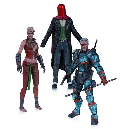 Batman Arkham Origins Deathstroke Joker Copperhead 3-Pack