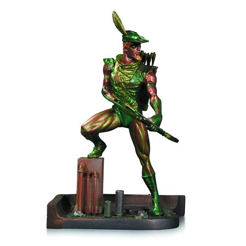 Green Arrow Patina Statue