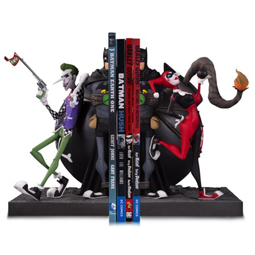Batman Joker and Harley Bookend Statue