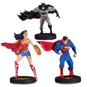 DC Designer Superman, Batman & Wonder Woman Statue 3-Pack