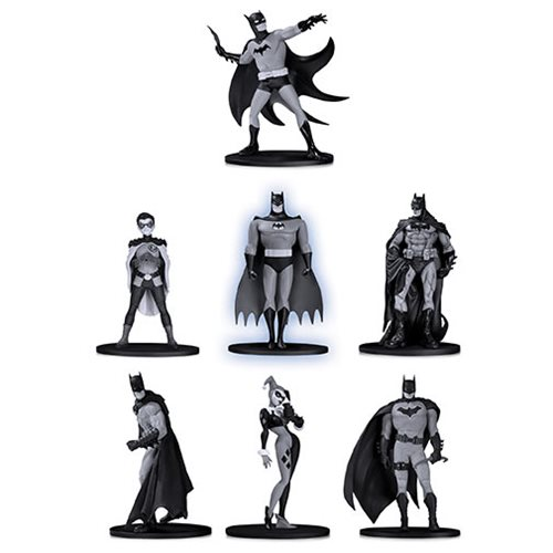Batman Black and White Mini Figure 7-Pack Box Set #2