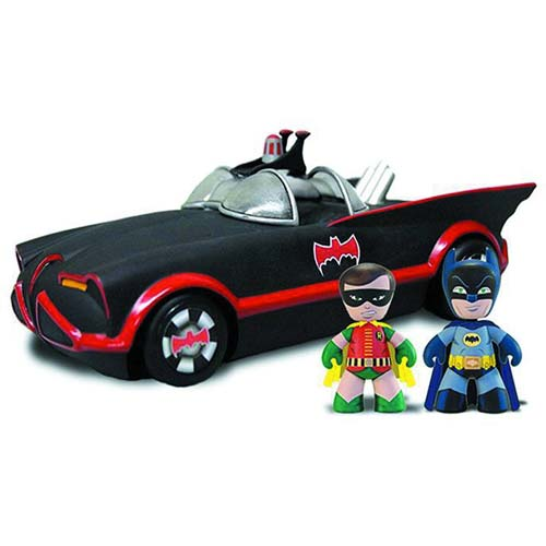 Batman 1966 Batman and Robin Mini Mez-Itz with Batmobile