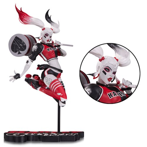 Harley Quinn Red, White and Black by Babs Tarr Statue