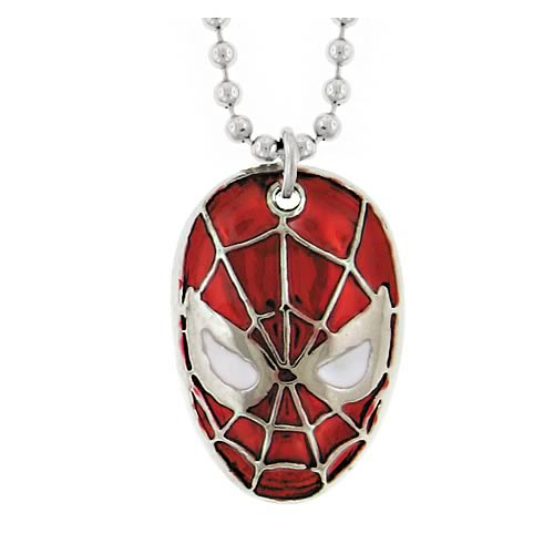 Spider-Man Mask Necklace