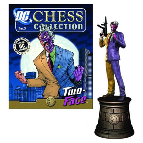 Batman Two-Face Black Knight Chess Piece with Magazine