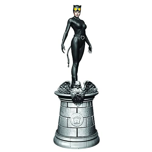 Batman Catwoman White Queen Chess Piece with Magazine