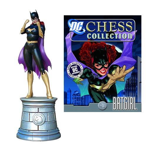 DC Superhero Batgirl Knight Chess Piece with Magazine