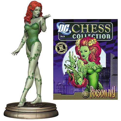 Batman Poison Ivy Black Pawn Chess Piece with Magazine
