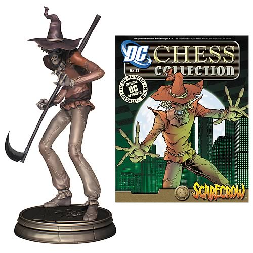 Batman Superhero Scarecrow Chess Piece & Collector Magazine