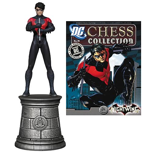 Batman Superhero Nightwing Chess Piece & Collector Magazine