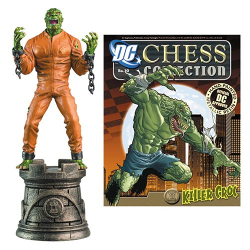 Batman Killer Croc Black Rook Chess Piece with Magazine
