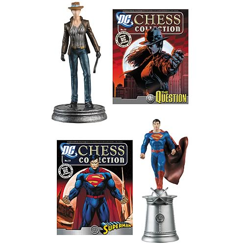 DC Comics Question & Superman White King Chess Piece & Mag