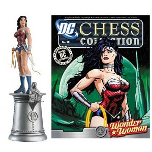 Wonder Woman White Queen Chess Piece with Magazine