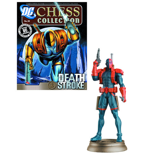 DC Superhero Deathstroke Black Pawn Chess Piece & Magazine