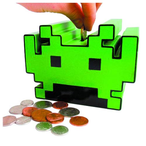 Space Invaders Electronic Talking Bank