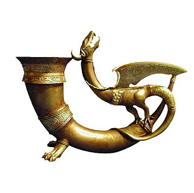Beowulf Golden Dragon Horn Prop Replica