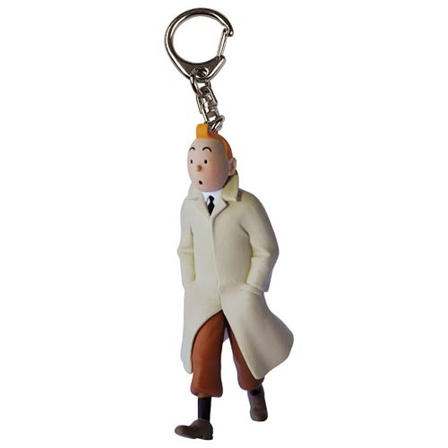 Adventures of Tintin Tintin in Trenchcoat Key Chain