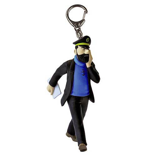 Adventures of Tintin Captain Haddock w/ Newspaper Key Chain