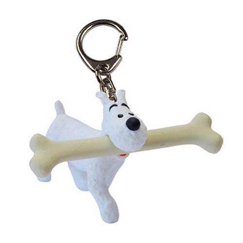 Adventures of Tintin Snowy Walking with Bone Key Chain
