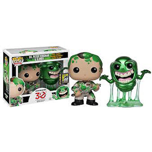 Ghostbusters Slimed Peter & Slimer Pop! Vinyl Exclusive