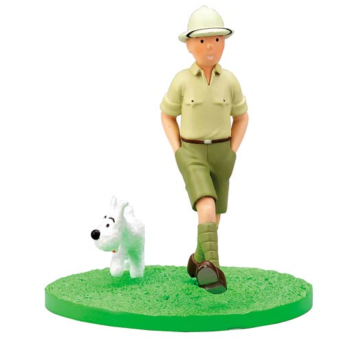 Adventures of Tintin Explorer Box Scene Mini-Statue