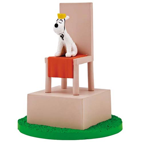 Adventures of Tintin Snowy on a Throne Box Scene Mini-Statue