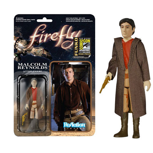 Firefly Browncoat Malcolm Reynolds ReAction 3 3/4 Figure