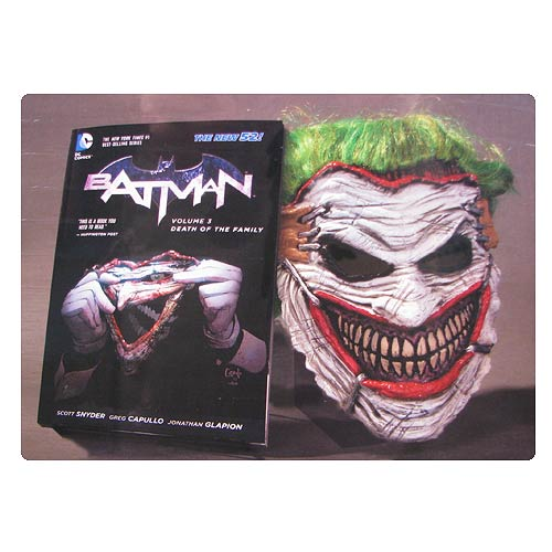 Batman New 52 Death Family Graphic Novel and Joker Mask Set