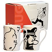 Adventures of Tintin Haddock and Tintin Mug 2-Pack
