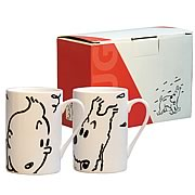 Adventures of Tintin Snowy and Tintin Mug 2-Pack
