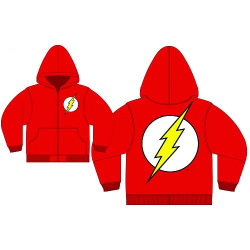 Flash Logo Red Zip-Up Hooded Sweatshirt